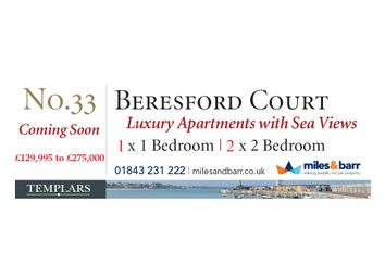 Thumbnail 2 bed flat for sale in Beresford Gardens, Cliftonville, Margate