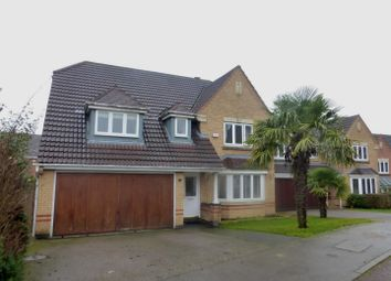 Thumbnail 4 bedroom detached house for sale in Portwey Close, Brixworth, Northampton