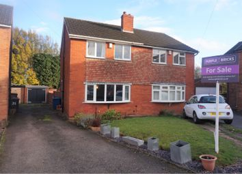 Thumbnail 3 bed semi-detached house for sale in Woodford Crescent, Burntwood
