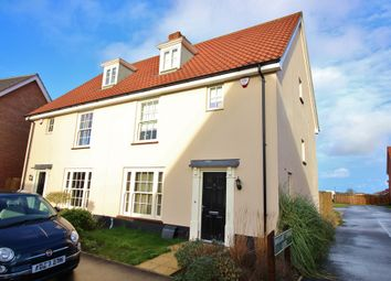 Thumbnail 3 bedroom semi-detached house for sale in Trafford Way, Spixworth, Norwich