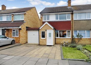 Thumbnail 3 bed semi-detached house for sale in Denton Close, Luton