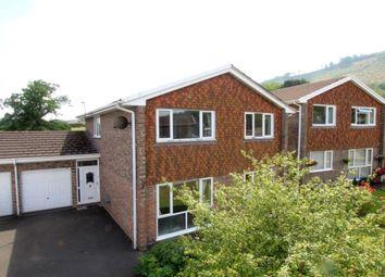 Thumbnail 4 bed link-detached house for sale in Elm Drive, Llanellen, Abergavenny