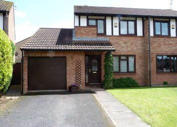 Thumbnail 3 bed semi-detached house to rent in Woodhall Rise, Werrington, Peterborough