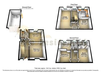 Thumbnail 5 bed town house for sale in Sugar Way, Peterborough