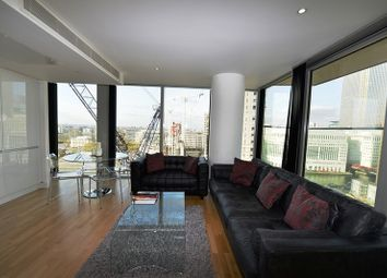 Thumbnail 2 bed flat to rent in Landmark West Tower, 22 Marsh Wall, London