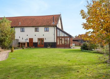 Thumbnail 3 bed barn conversion for sale in Norwich Road, Scoulton, Norwich