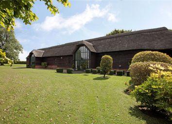 Thumbnail 7 bed barn conversion for sale in Stanton St. Bernard, Marlborough, Wiltshire