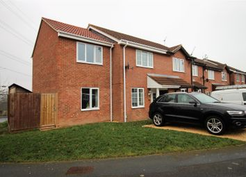 Thumbnail 3 bedroom end terrace house for sale in Basil Close, Woodhall Park, Swindon