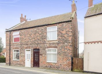 Thumbnail 2 bedroom semi-detached house for sale in Howden Road, Barlby, Selby