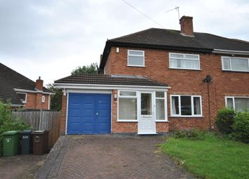 Thumbnail 3 bed semi-detached house to rent in Kingshurst Road, Shirley, Solihull
