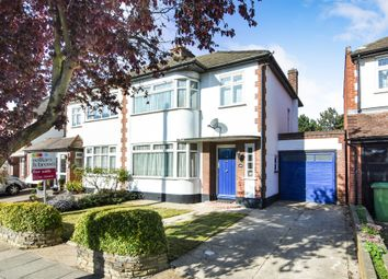 Thumbnail 3 bed semi-detached house for sale in Lodge Avenue, Gidea Park, Romford