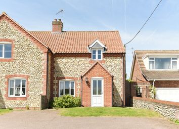 Thumbnail 3 bed semi-detached house for sale in Wells Road, Walsingham
