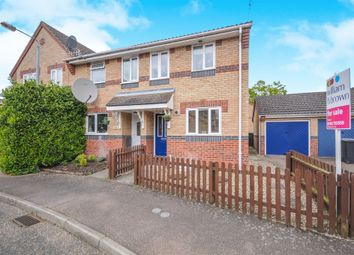 Thumbnail 2 bedroom end terrace house for sale in Speedwell Close, Thetford
