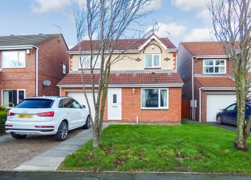 Thumbnail 3 bed detached house for sale in Norham Drive, Morpeth
