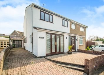 Thumbnail 3 bed semi-detached house for sale in Heol Dewi, Brynna, Pontyclun