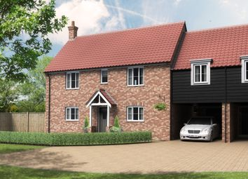 Thumbnail 4 bed link-detached house for sale in Beccles Road, Thurlton, Norwich
