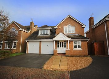 Thumbnail 4 bedroom detached house for sale in Monks Crescent, Thurcaston Park, Leicester