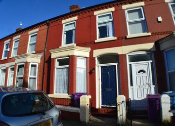 Thumbnail 4 bed terraced house to rent in Woodcroft Road, Smithdown, Liverpool