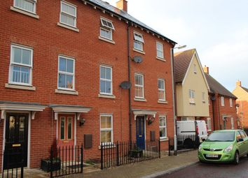 Thumbnail 3 bed town house to rent in Mario Way, Colchester