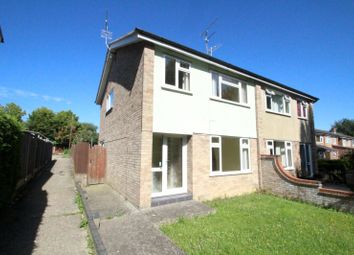 Thumbnail 3 bedroom semi-detached house to rent in Churchill Avenue, Hadleigh, Ipswich