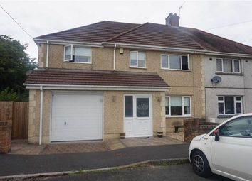 Thumbnail 4 bed semi-detached house for sale in Bryneinon Road, Swansea