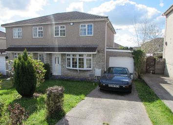 Thumbnail 3 bed semi-detached house to rent in Easterly Close, Brackla, Bridgend.