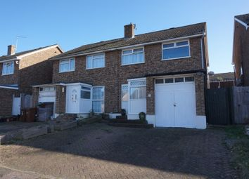 Thumbnail 3 bed semi-detached house for sale in Brewer Road, Cliffe Woods, Rochester
