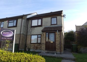 Thumbnail 3 bed end terrace house to rent in Bellingham Crescent, Plympton, Plymouth