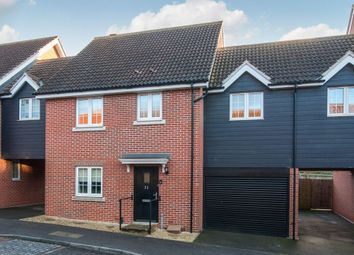 Thumbnail 4 bed link-detached house for sale in Kittiwake Court, Stowmarket