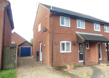 Thumbnail 3 bedroom semi-detached house for sale in Nightingale Close, Fakenham
