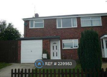Thumbnail 3 bed semi-detached house to rent in Lancaster Way, Peterborough