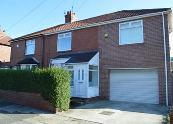 Thumbnail 4 bedroom semi-detached house for sale in Kings Road, Wallsend