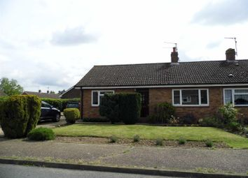 Thumbnail 2 bedroom semi-detached bungalow for sale in Chequers Close, Grimston, King's Lynn