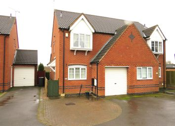 Thumbnail 3 bed semi-detached house for sale in Grange View, Ellistown, Coalville