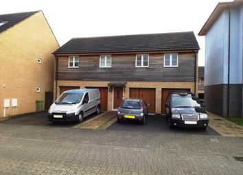 Thumbnail 2 bed flat for sale in Flexerne Crescent, Ashland, Milton Keynes