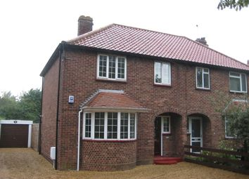 Thumbnail 1 bedroom semi-detached house to rent in Boundary Road, Hellesdon, Norwich