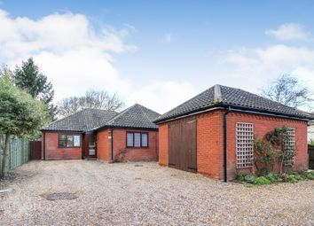 Thumbnail 3 bed detached bungalow for sale in Yarmouth Road, Kirby Cane, Bungay