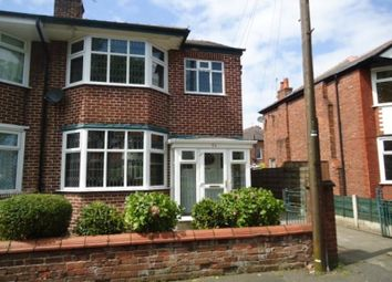 Thumbnail 3 bed semi-detached house to rent in Lyndhurst Road, Stretford, Manchester
