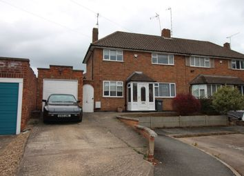 Thumbnail 3 bed semi-detached house to rent in Springway Close, Leicester