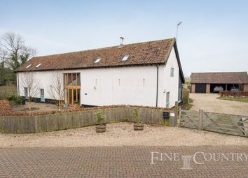 Thumbnail 4 bed barn conversion for sale in The Street, Winfarthing, Diss