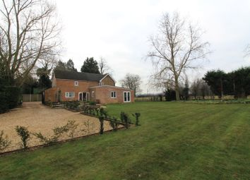 Thumbnail 4 bed detached house for sale in Eldernell Lane, Coates, Peterborough