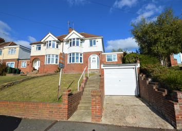 Thumbnail 4 bed semi-detached house for sale in Downs Road, Folkestone, Kent