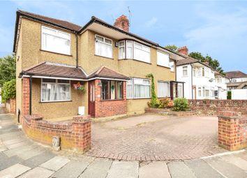 Thumbnail 4 bed semi-detached house for sale in Alderney Gardens, Northolt, Middlesex