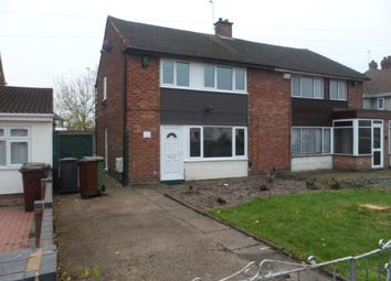Thumbnail 3 bed semi-detached house to rent in Vaughan Road, Willenhall