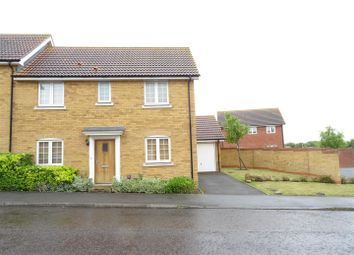 Thumbnail 3 bed semi-detached house for sale in Lapwing Grove, Stowmarket