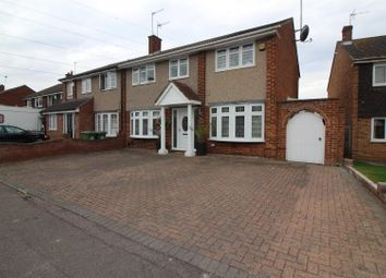 Thumbnail 4 bed semi-detached house for sale in Herongate Road, Cheshunt, Herts