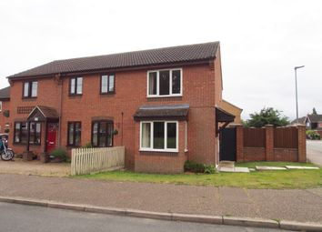 Thumbnail 2 bed semi-detached house to rent in Barnham Broom Road, Wymondham, Norfolk