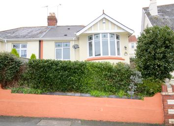 Thumbnail 2 bed semi-detached bungalow for sale in Boundary Road, Chelston, Torquay