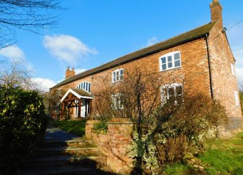 Thumbnail 5 bed farmhouse for sale in Barthomley Road, Barthomley, Cheshire.