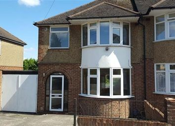Thumbnail 3 bedroom semi-detached house to rent in Taunton Avenue, Luton